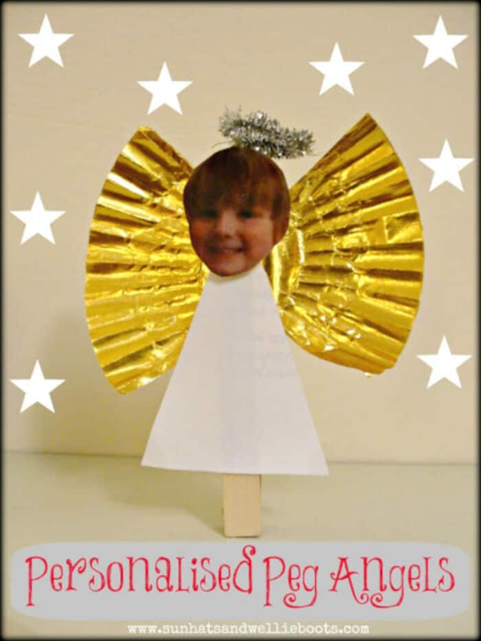 Personalised Peg Angels by Sun Hats and Wellie Boots