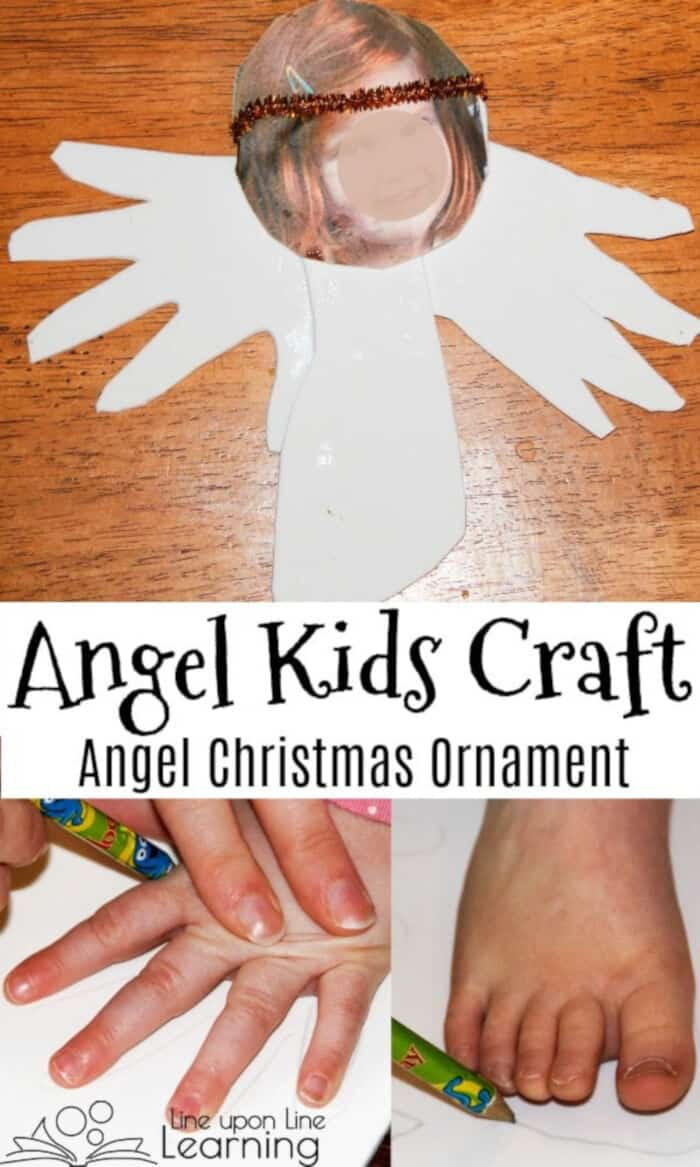 Personalized Angel Kids Craft by Line upon Line Learning