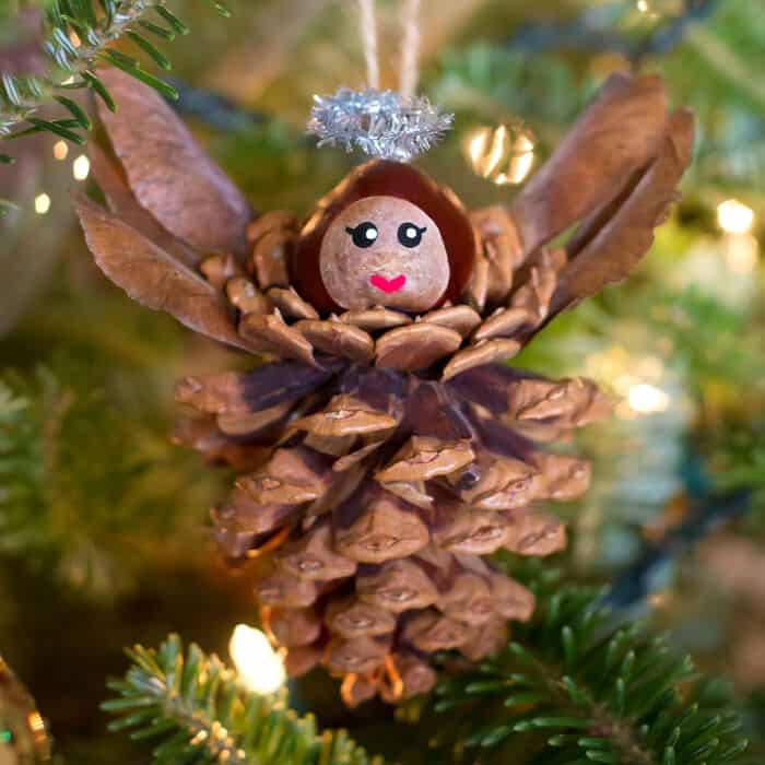 Pine Cone Angels Ornaments by Fireflies and Mud Pies