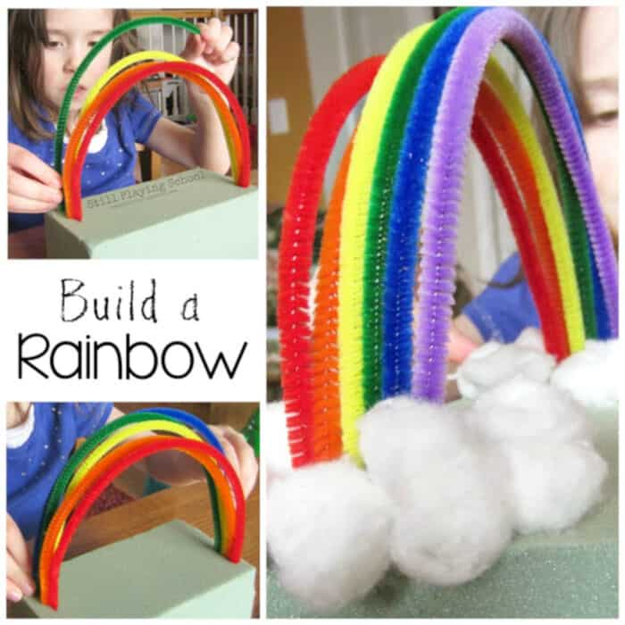 Pipe Cleaner Rainbow by Still Playing School
