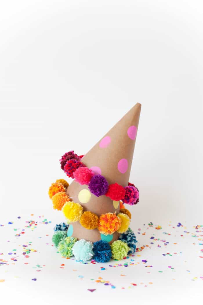 Pom Pom Party Hat DIY by Tell Love and Party