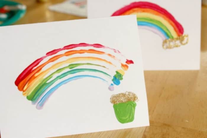Pot of Gold Painted Rainbows by Make and Takes