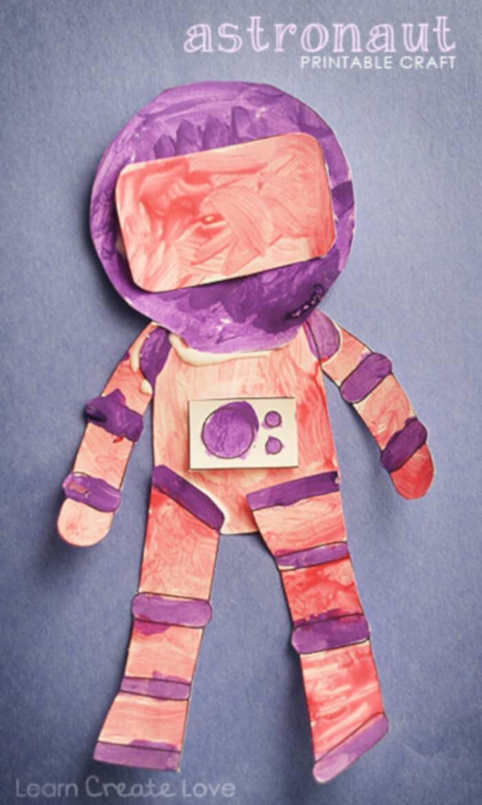 Printable Astronaut Craft by Learn Create Love