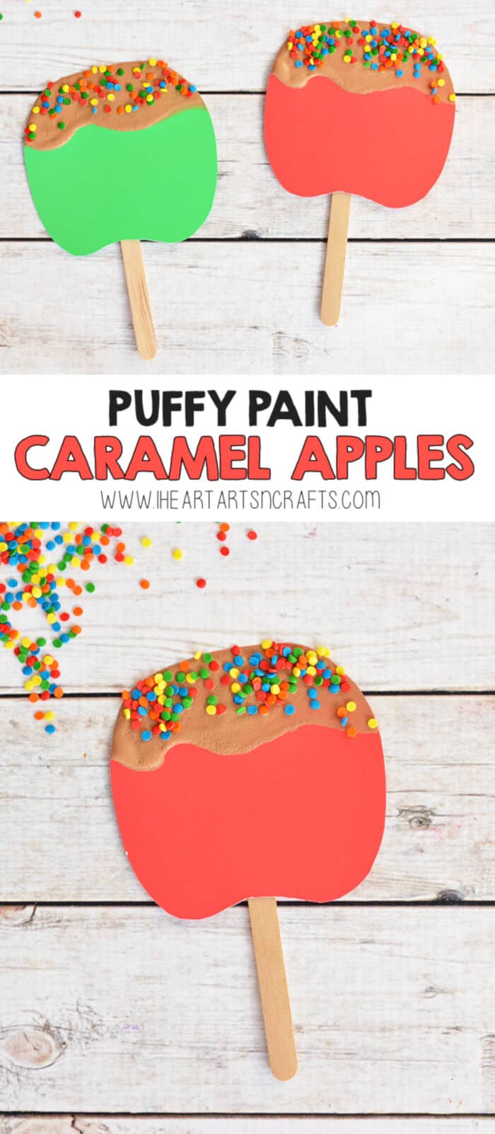 Puffy Paint Caramel Apples by I Heart Arts n Crafts