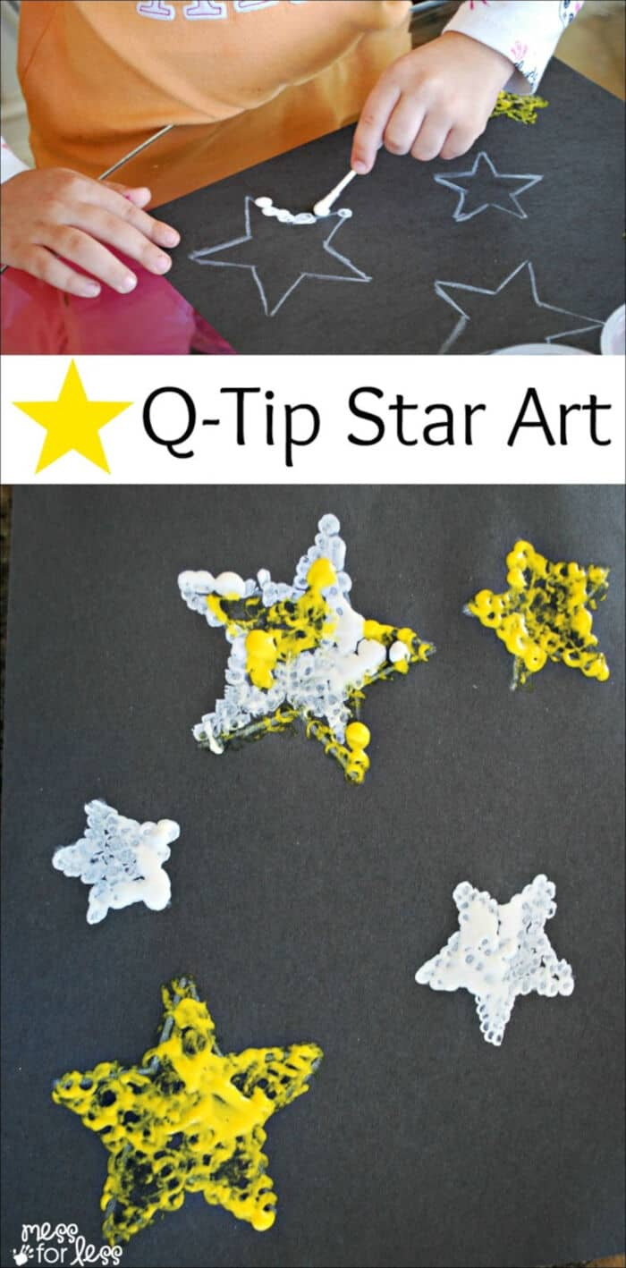 Q-Tip Star Art by Mess for Less