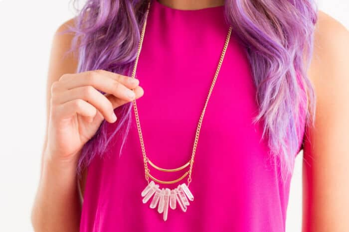 Quartz Necklace by Brit + Co