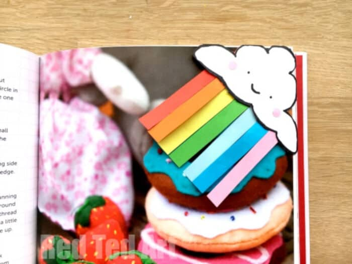 Rainbow Corner Bookmark DIY by Red Ted Art