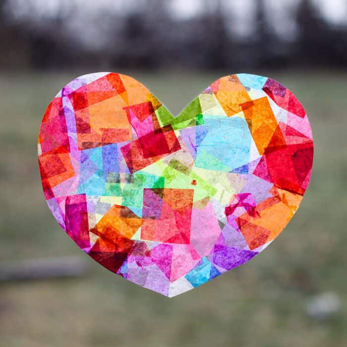 Rainbow Heart Suncatchers by Fireflies Mud Pies