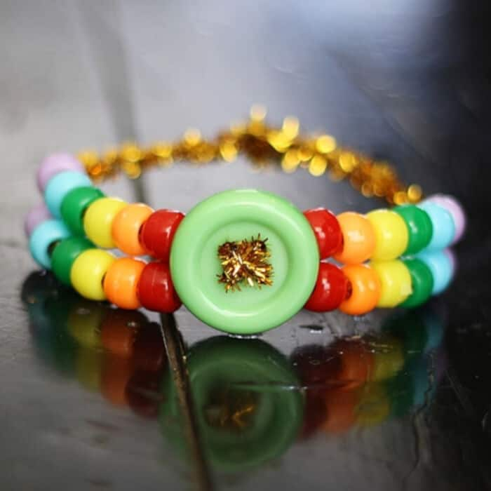 Rainbow Pony Bead Bracelet by Crafts by Amanda