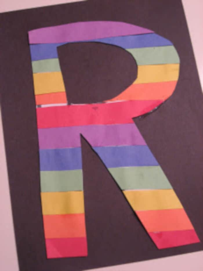 Rainbow R by No Time For Flash Cards