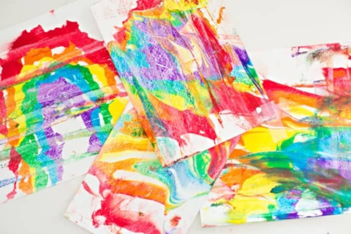 Rainbow Shaving Cream Marbled Art by Hello Wonderful
