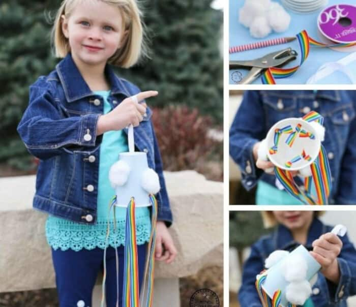 Rainbow Windsock Craft for Kids by Planning Playtime