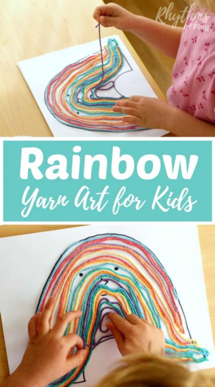 Rainbow Yarn Art Book Activity by Rhythms of Play