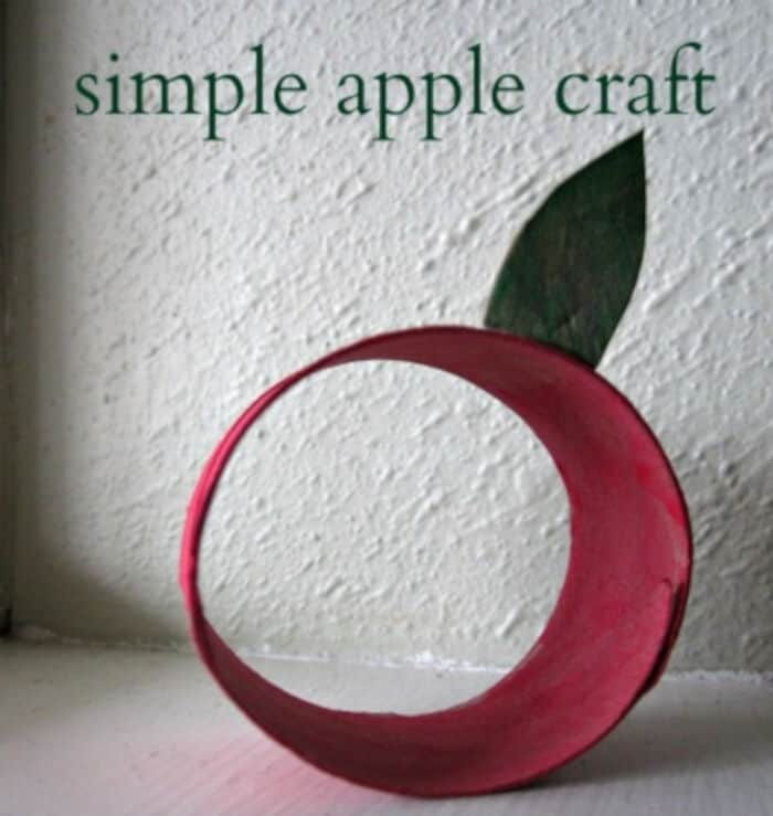 Recycled Apple Craft by No Time For Flash Cards