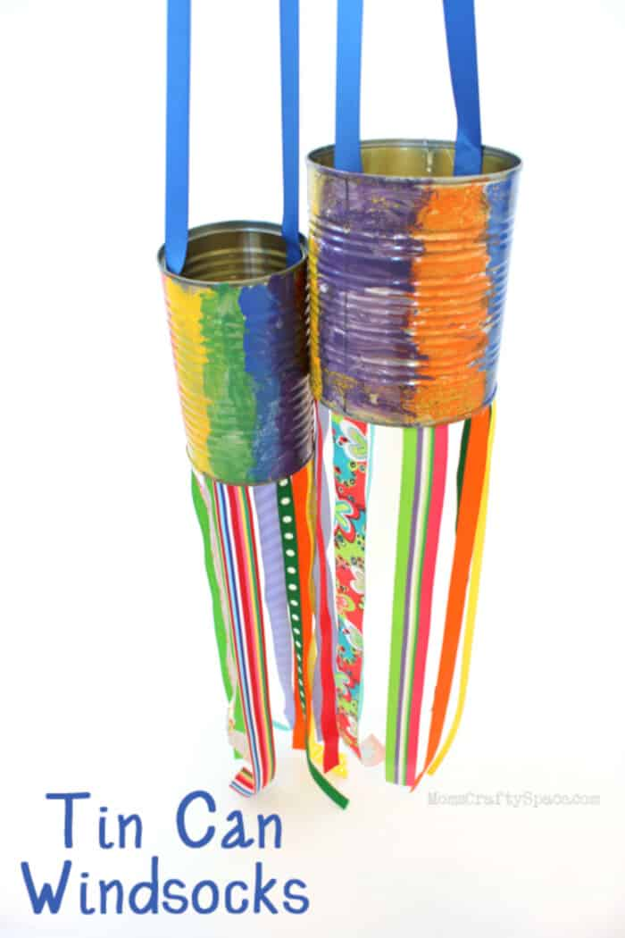 Recycled Tin Can Windsocks by Happiness Is Homemade