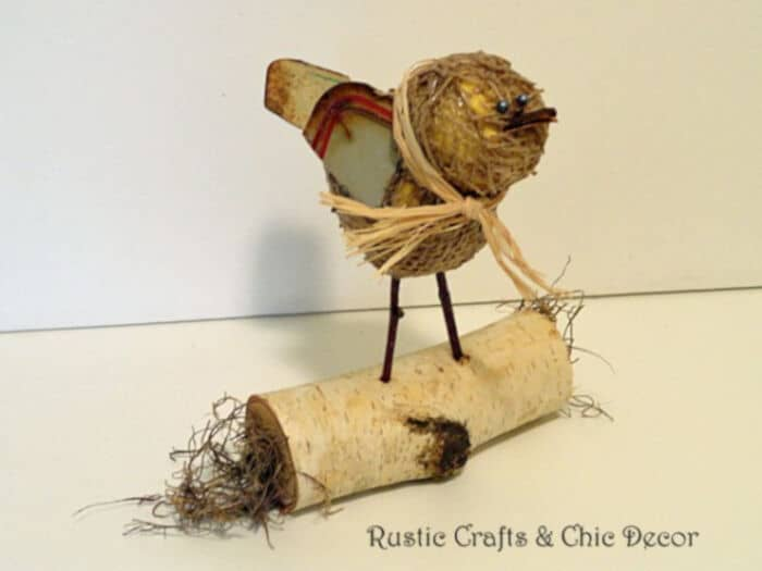 Rustic Bird Craft by Rustic Crafts and Chic Decor