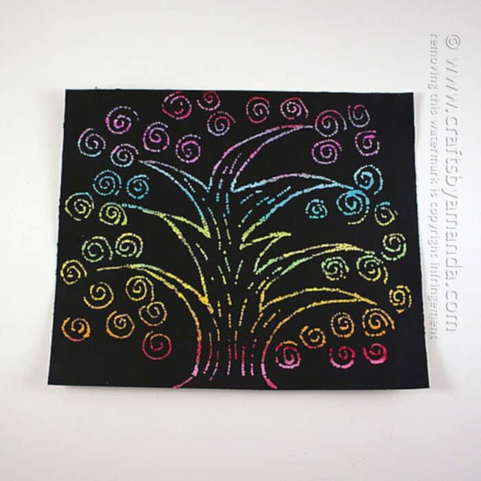 Scratch Art Rainbow Tree by Crafts by Amanda