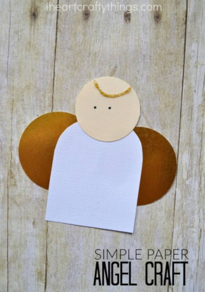 Simple Paper Angel Craft by I Heart Crafty Things