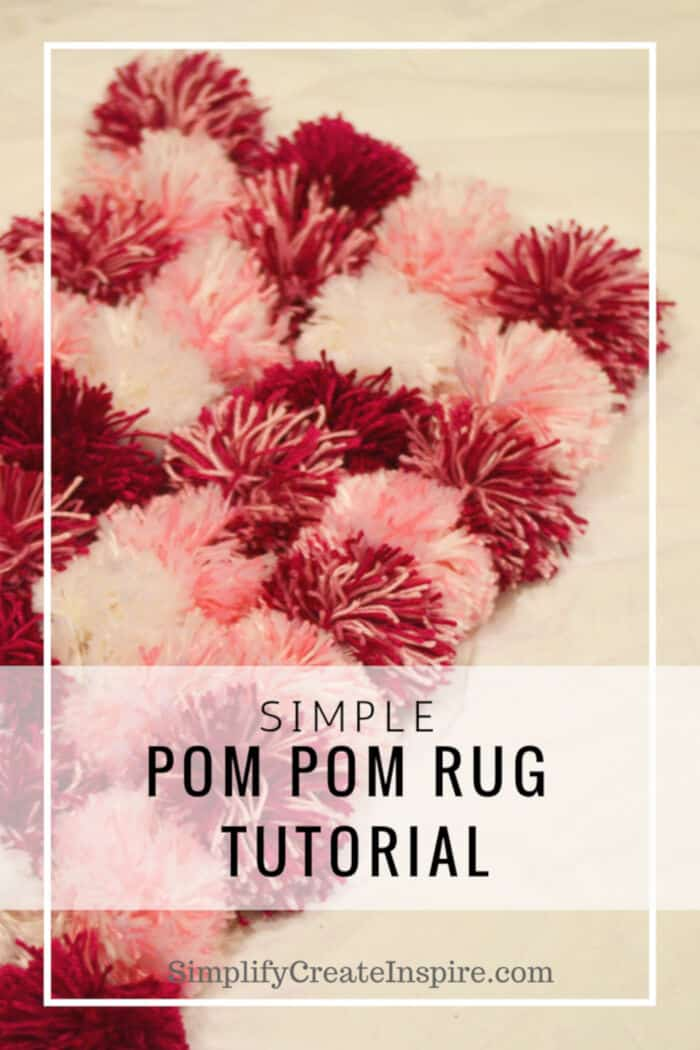 Simple Pom Pom Rug Tutorial by Simplify Create Inspire