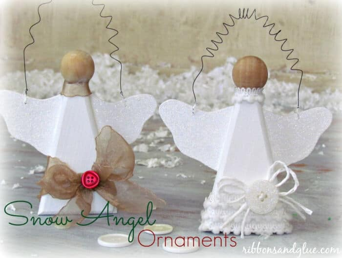 Snow Angel Ornaments by Ribbons and Glue