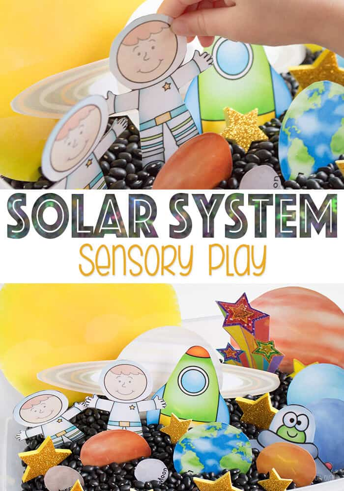 Solar System Sensory Play by Life Over Cs