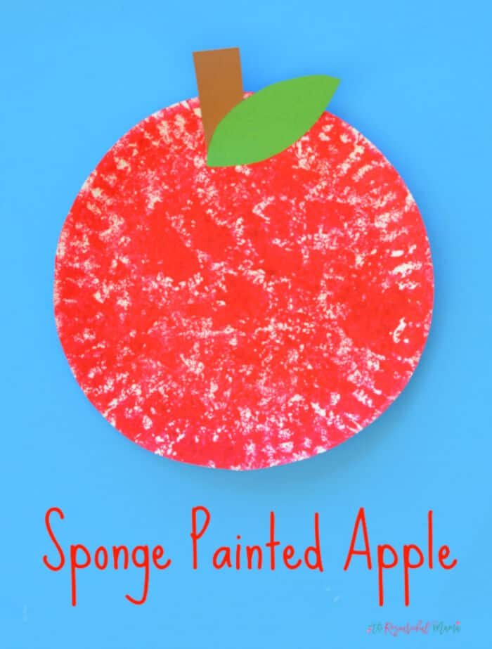 Sponge Painted Apple Craft for Kids by The Resourceful Mama