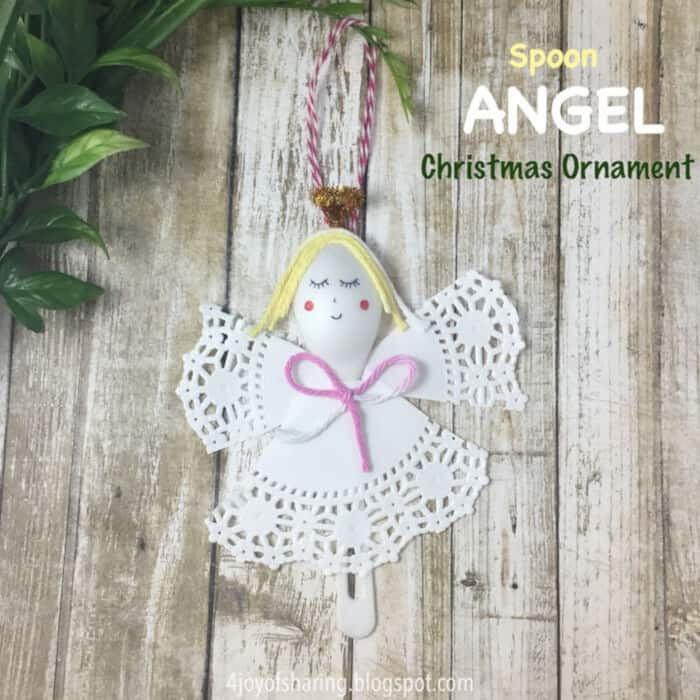 Spoon Angel Christmas Ornament by The Joy of Sharing