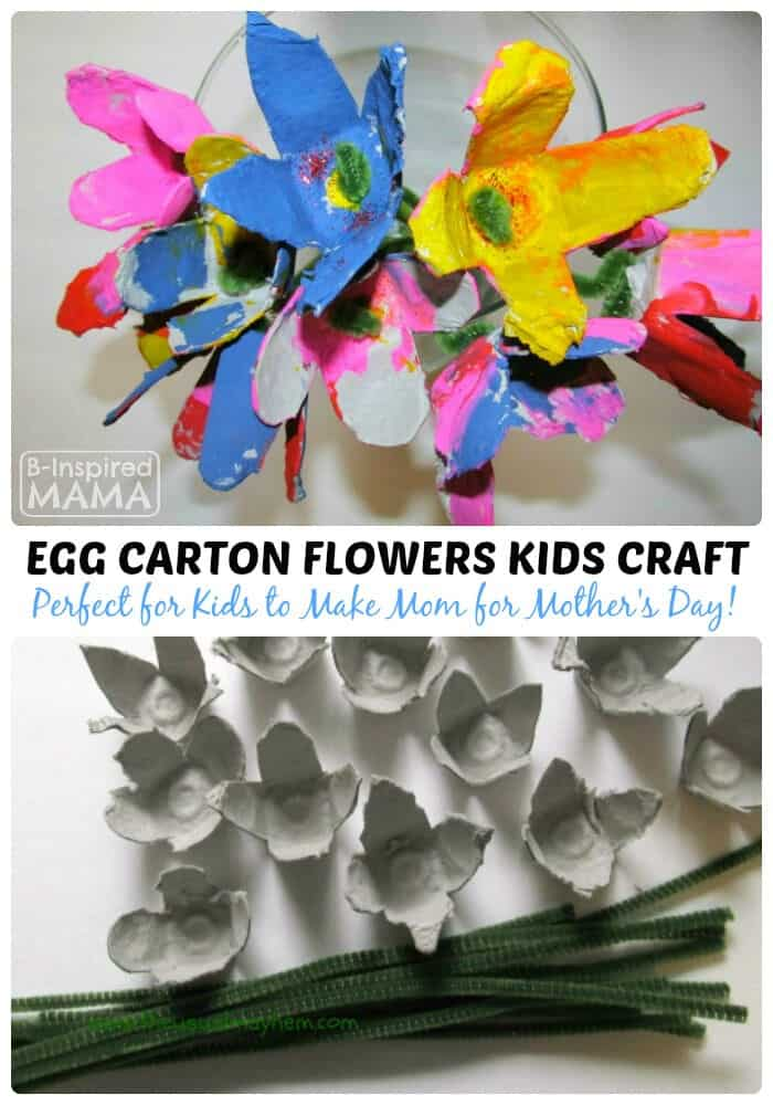 Spring Flowers Egg Carton Craft by B-Inspired Mama