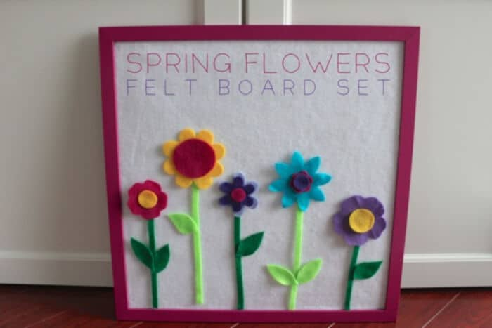 Spring Flowers Felt Board Set by Mama.Papa.Bubba