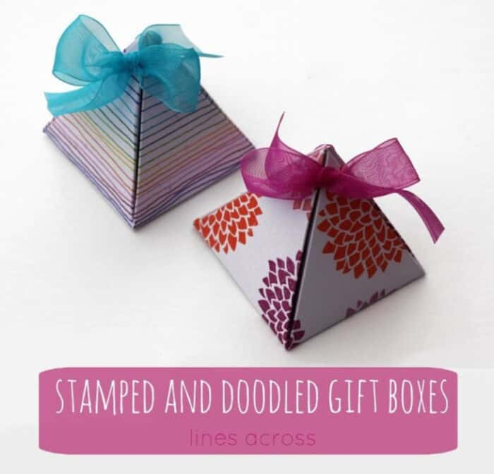 Stamped And Doodled Gift Boxes by Lines Across