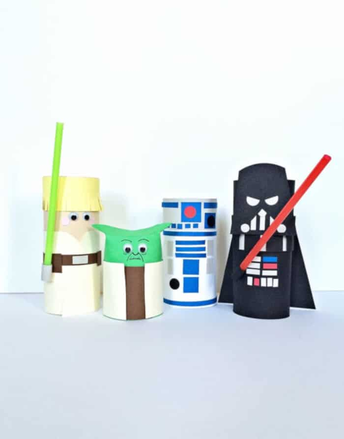 Star Wars Characters Toilet Tube Craft by Hello Wonderful