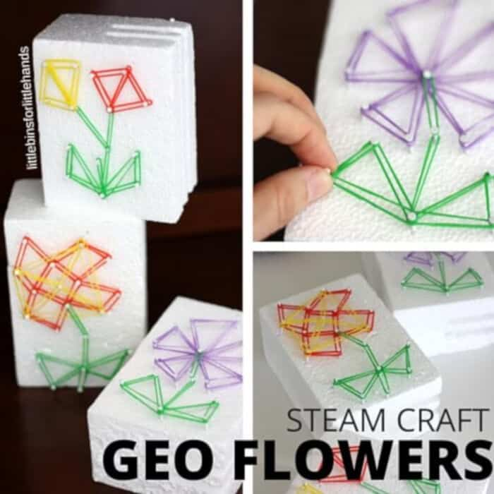 Steam Craft Geo Flowers by Little Bins for Little Hands