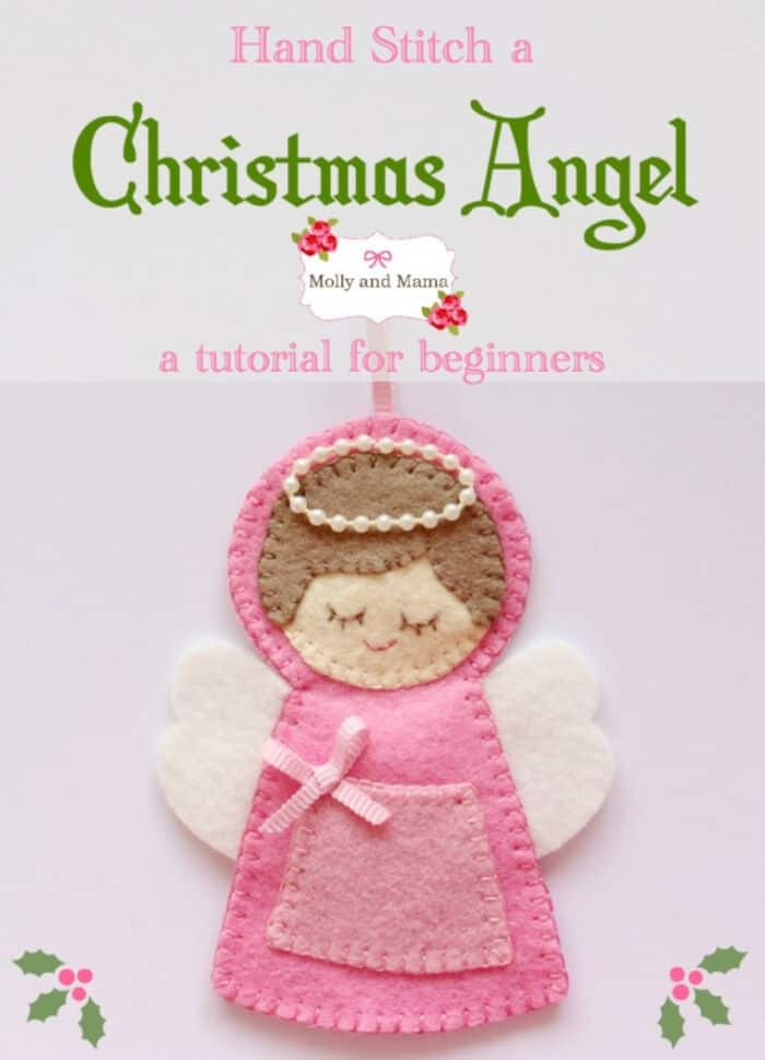 Stitch a Felt Angel Christmas Ornament by Molly and Mama