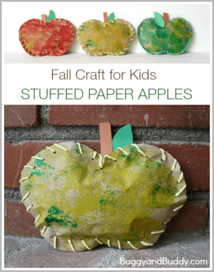 Stuffed Paper Apples by Buggy and Buddy