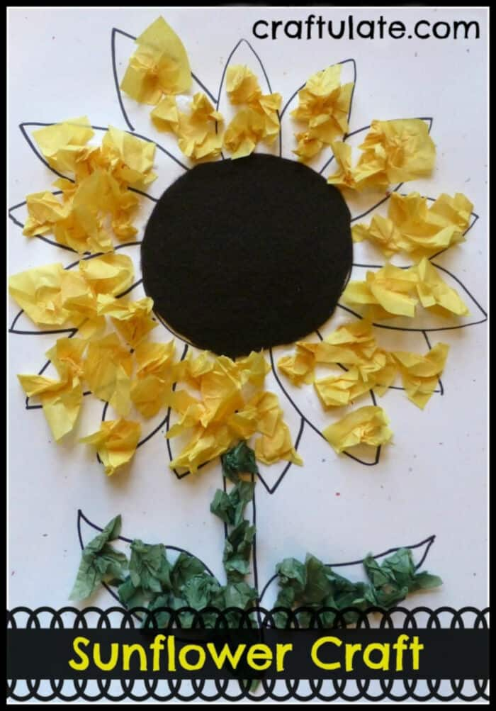 Sunflower Craft by Craftulate