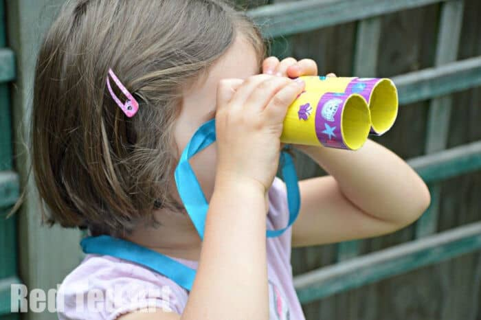 TP Roll Binoculars with Poppy Cat by Red Ted Art
