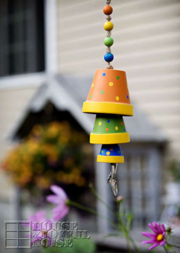 Terracota Flower Pot Wind Chime by House of Joyful Noise