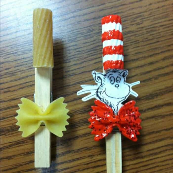 The Cat in the Hat Clothespin Craft! by SupplyMe
