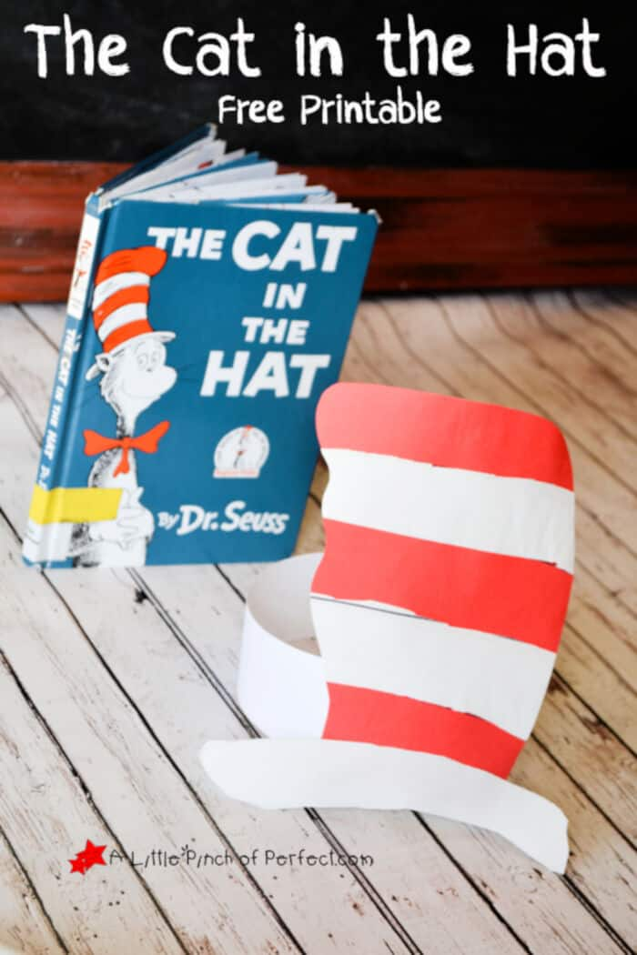 The Cat in the Hat Printable Craft by A Little Pinch of Perfect