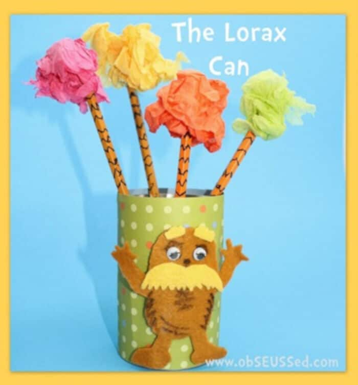 The Lorax and Cat in the Hat Pencil Cans by obSEUSSed