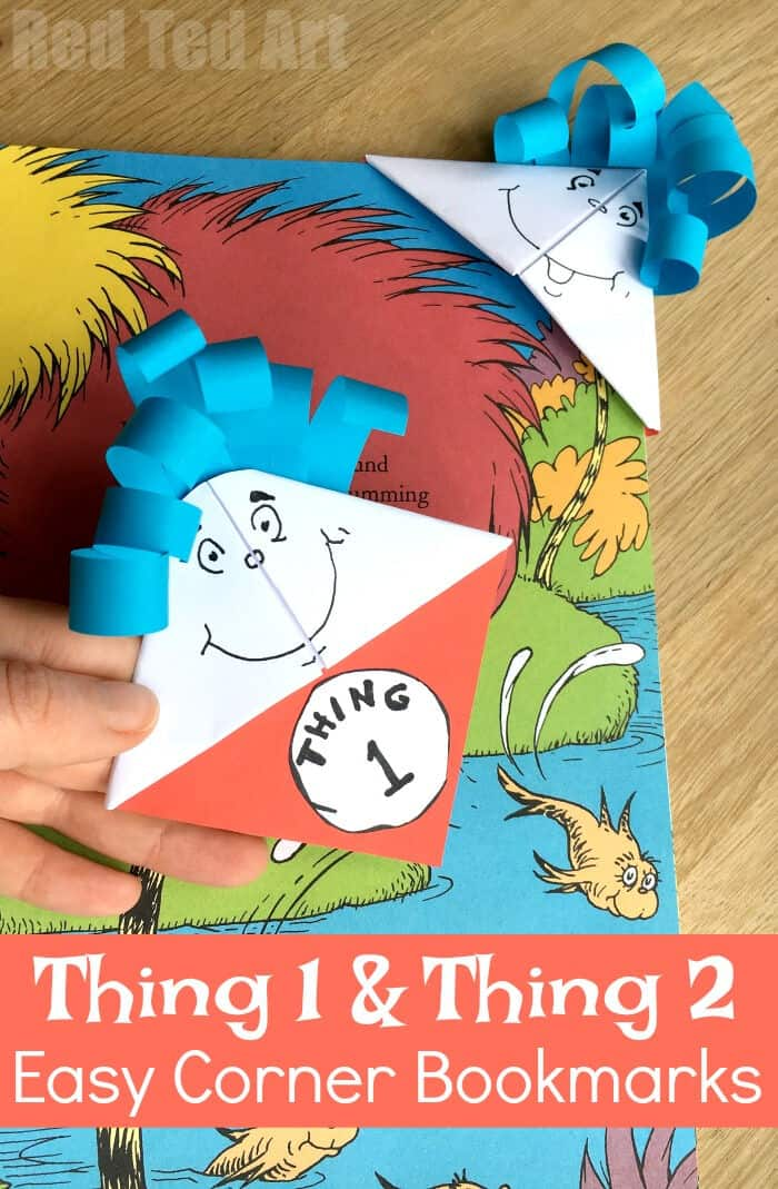 Thing 1 Thing 2 by Red Ted Art