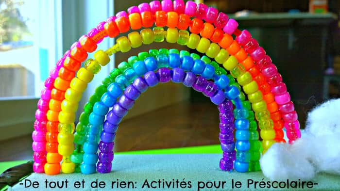 Threading a Rainbow on Pipe Cleaners by De Tout Et De Rien