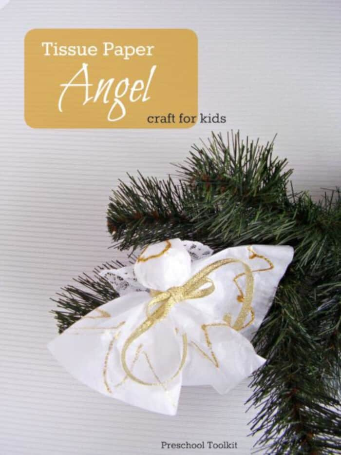 Tissue Paper Angel by Preschool Toolkit