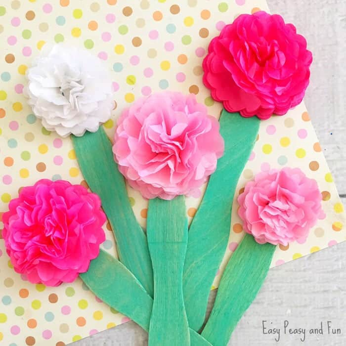 Tissue Paper Flower Craft by Easy Peasy and Fun