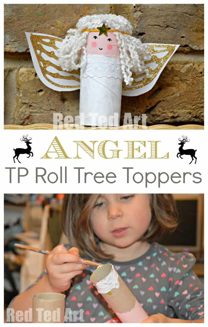 Toilet Paper Roll Angel Craft for Kids by Red Ted Art