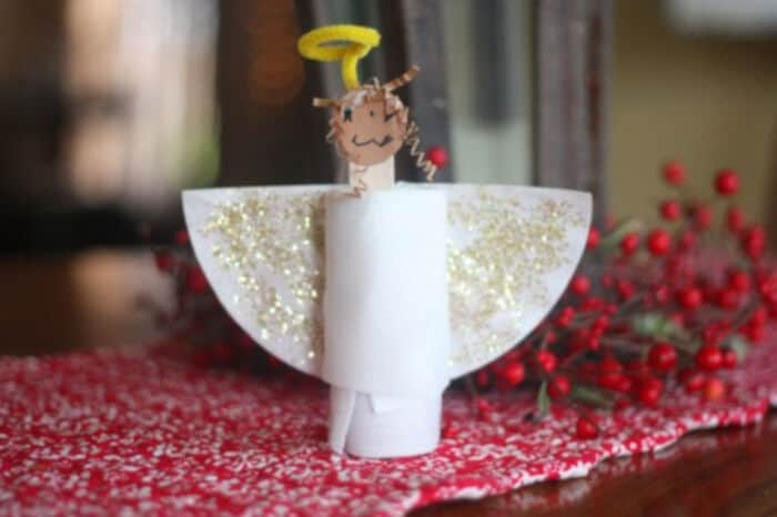 Toilet Paper Roll Angel by I Can Teach My Child