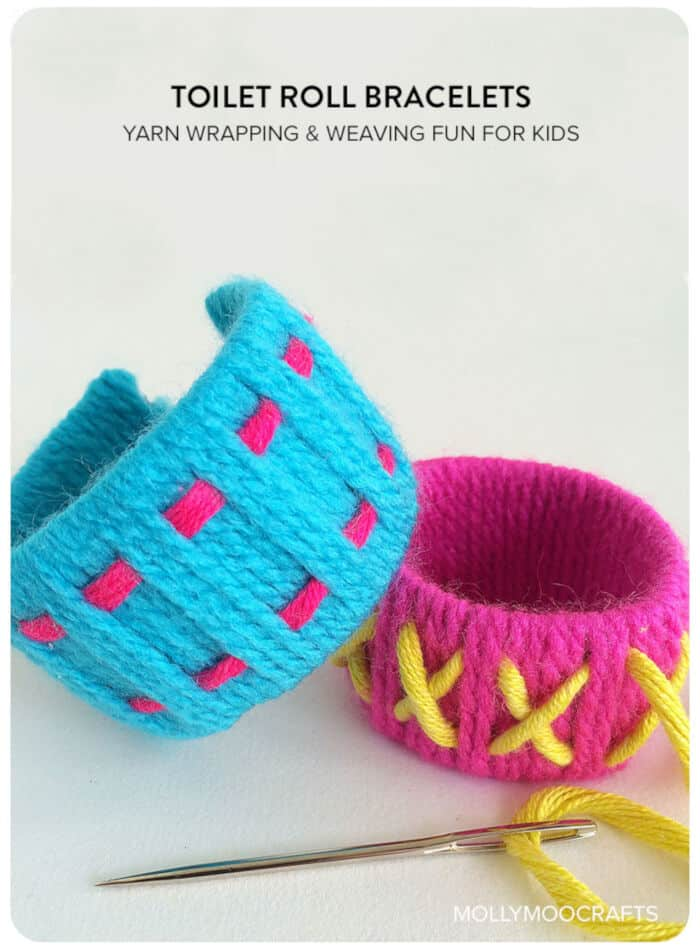 Toilet Roll Bracelets by MollyMoo
