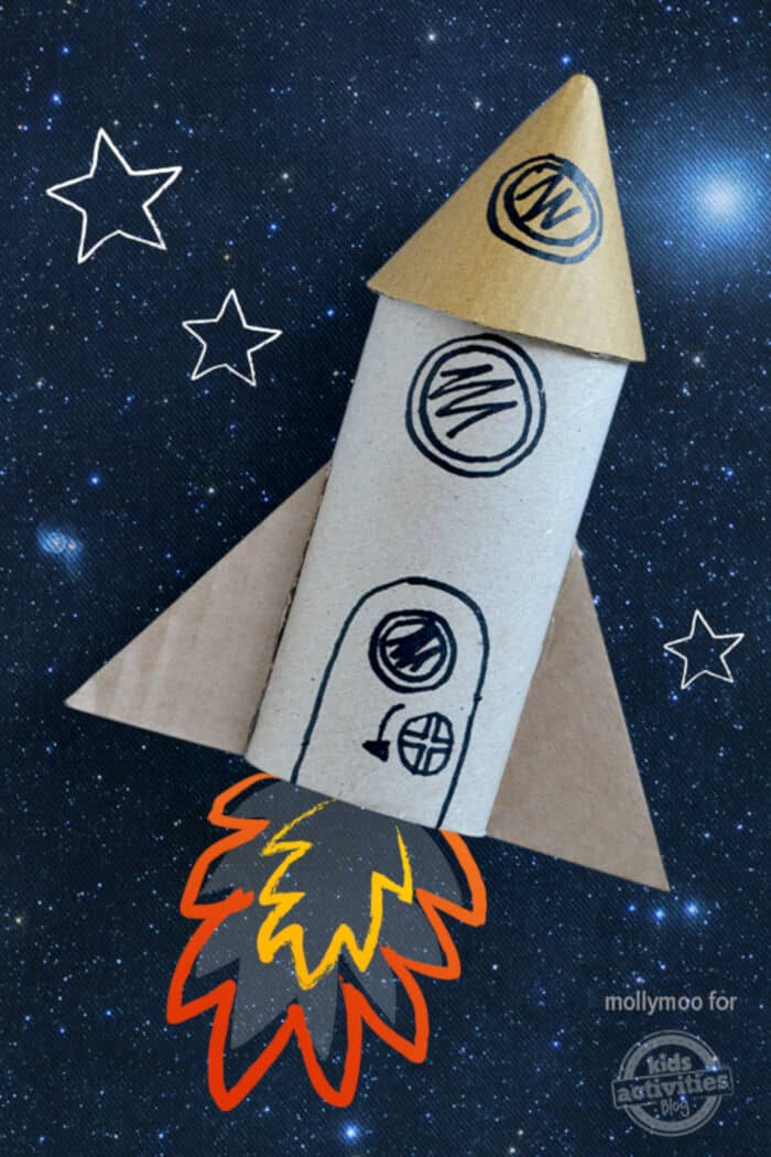 Toilet Roll Craft Rocket by Kids Activities