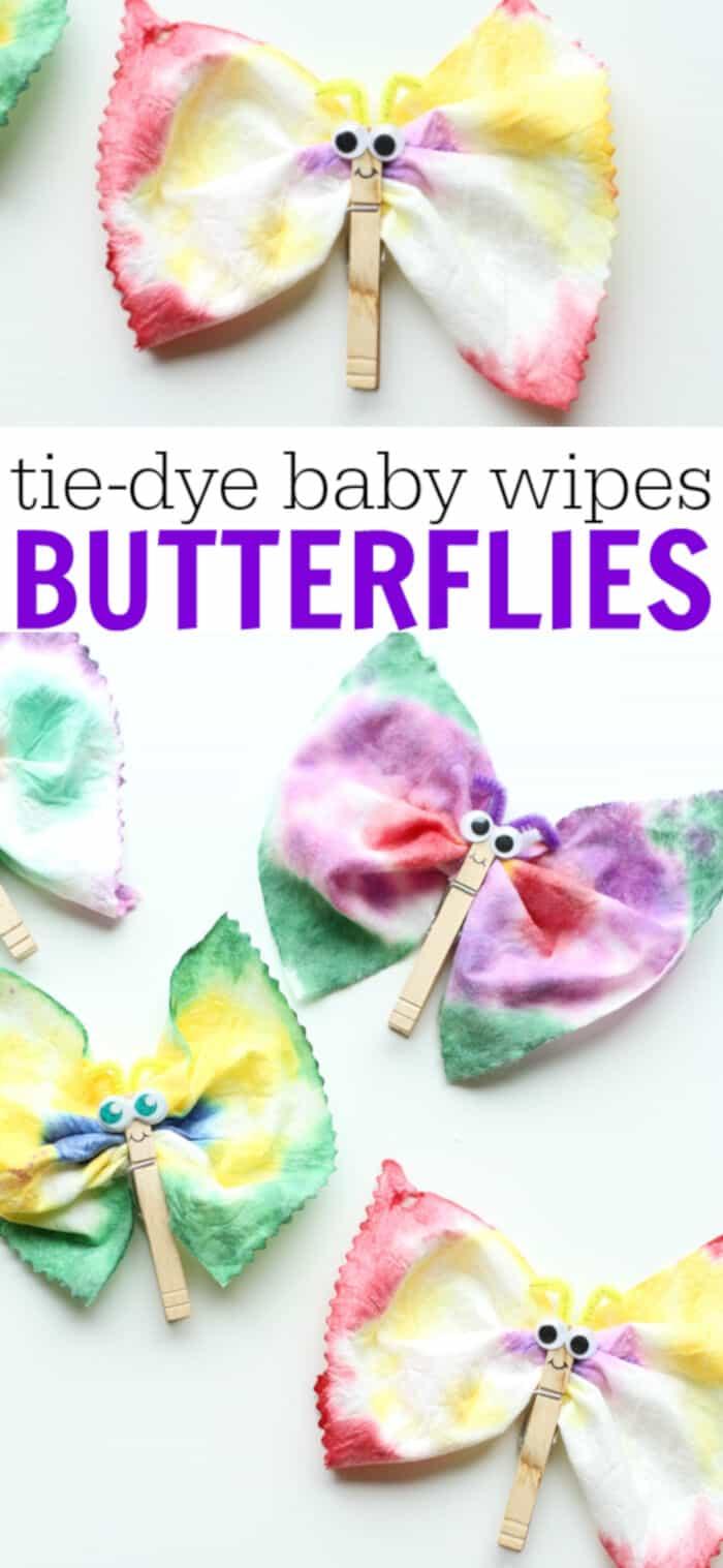 Tye Dye Baby Wipes Butterflies by I Can Teach My Child!