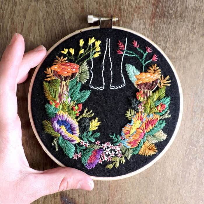 Vibrant Floral Embroideries by Brown Paper Bag